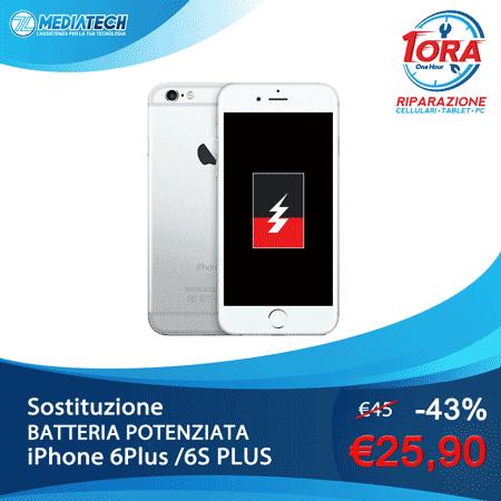 BATTERIA POTENZIATA 🔋 iPhone 6 Plus /6S Plus a soli 25,90€